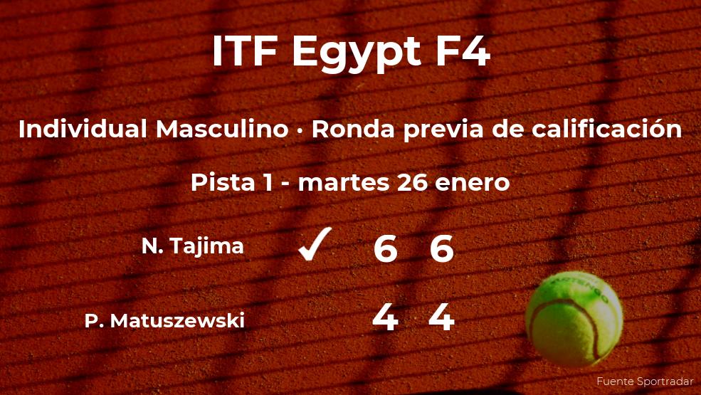 El tenista Naoki Tajima pasa a la siguiente fase del torneo de El Cairo