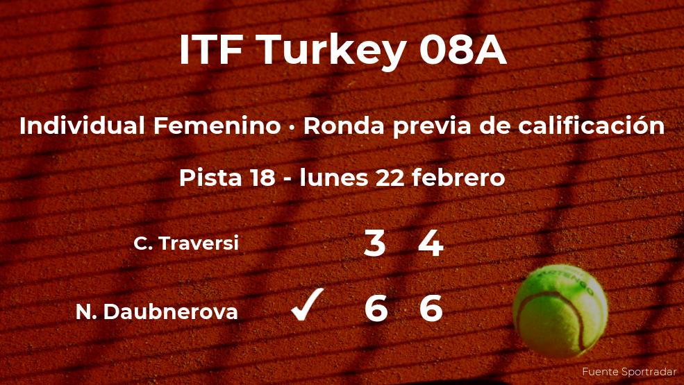 La tenista Nikola Daubnerova pasa a la siguiente fase del torneo de Antalya