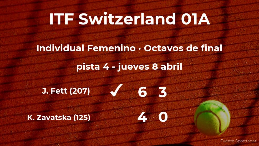 La tenista Jana Fett, clasificada para los cuartos de final del torneo de Bellinzona
