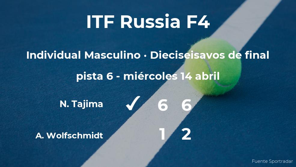 El tenista Naoki Tajima se clasifica para los octavos de final del torneo ITF Russia F4