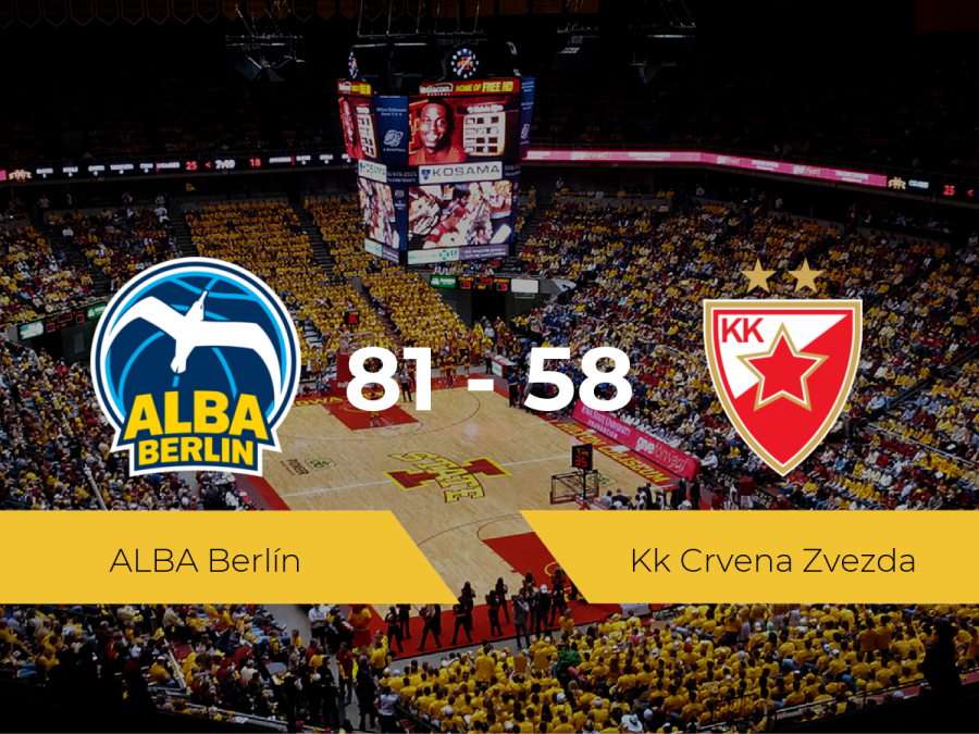 El ALBA Berlín logra vencer al Kk Crvena Zvezda (81-58)