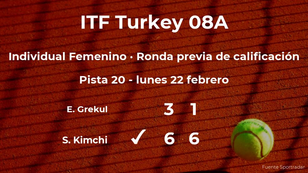 Shavit Kimchi pasa a la siguiente fase del torneo de Antalya