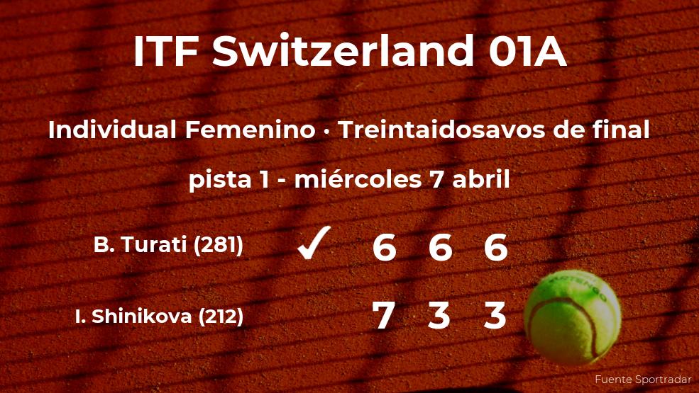 La tenista Bianca Turati gana en los treintaidosavos de final del torneo de Bellinzona