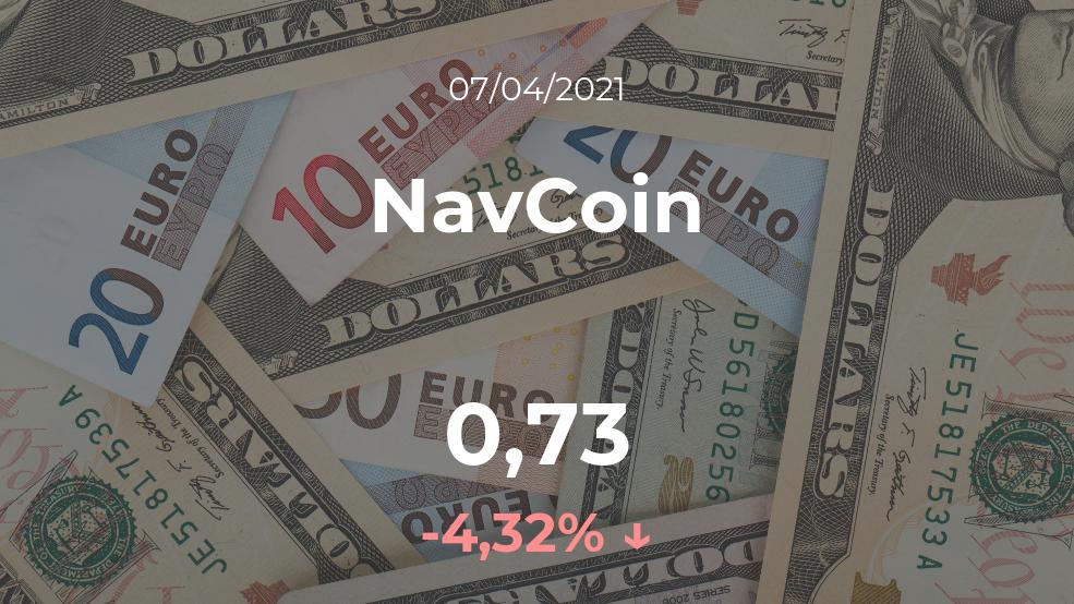 Cotización del NavCoin del 7 de abril