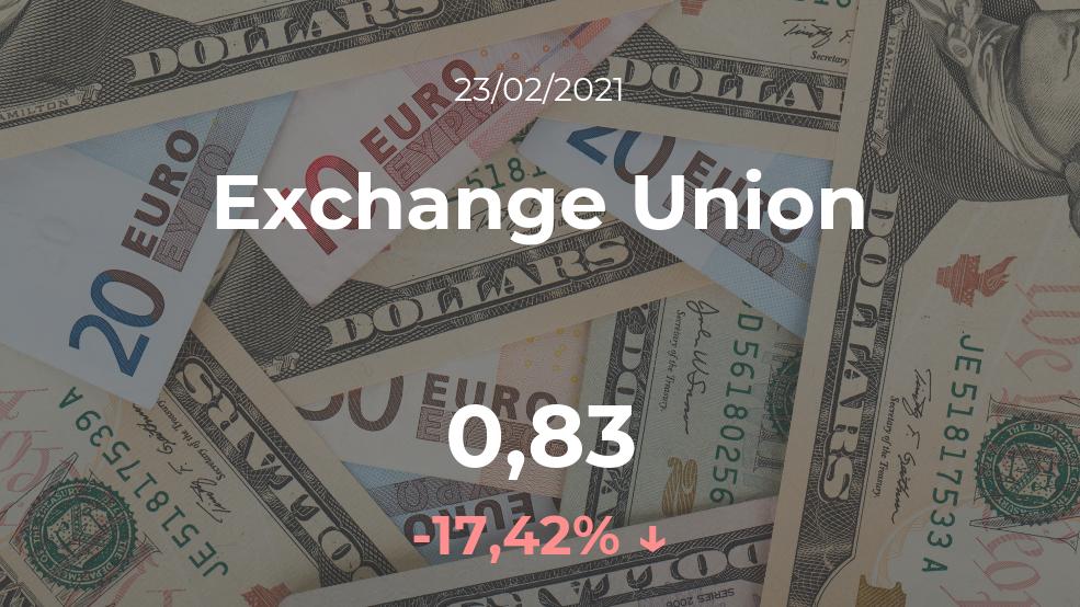 Cotización del Exchange Union del 23 de febrero