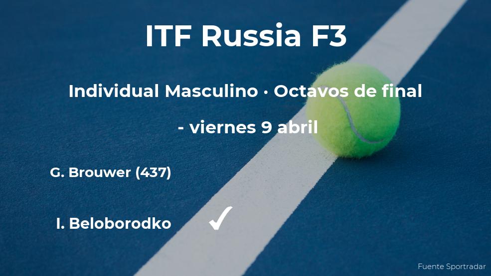 Sorpresa en el torneo ITF Russia F3: el tenista Gijs Brouwer, eliminado tras perder en los octavos de final
