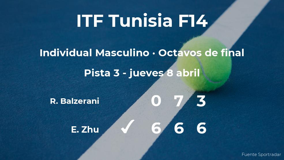 Evan Zhu pasa a los cuartos de final del torneo de Monastir