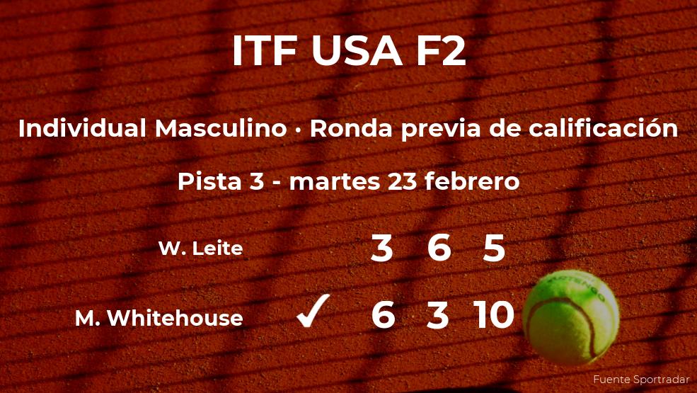 Mark Whitehouse logra ganar en la ronda previa de calificación a costa del tenista Wilson Leite