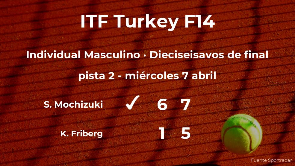 El tenista Shintaro Mochizuki gana en los dieciseisavos de final del torneo de Antalya