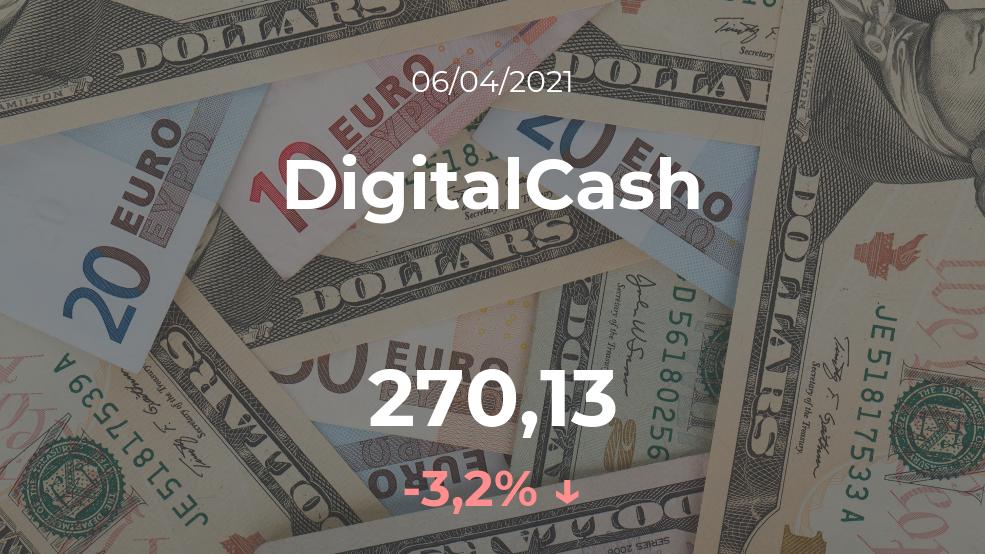 Cotización del DigitalCash del 6 de abril