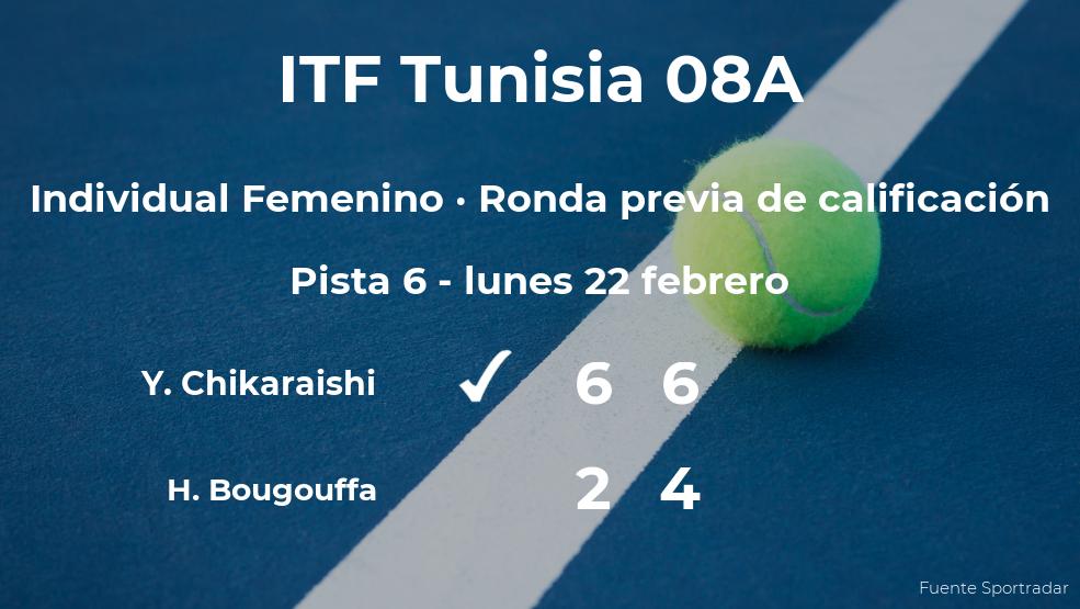 Yui Chikaraishi pasa de ronda del torneo de Monastir