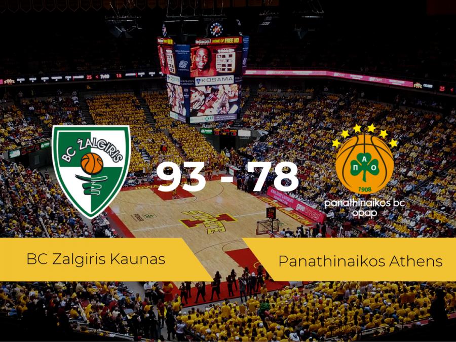 Triunfo del BC Zalgiris Kaunas ante el Panathinaikos Athens por 93-78