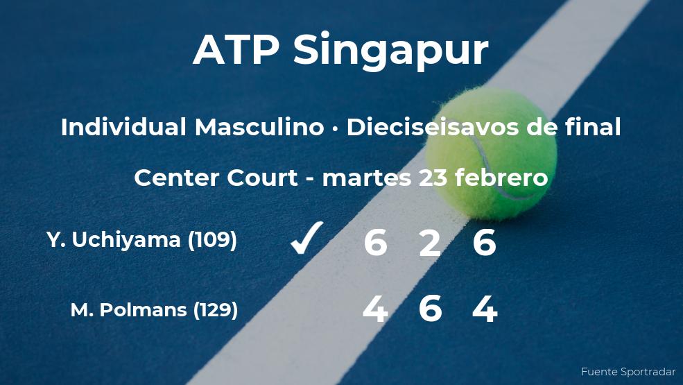 El tenista Yasutaka Uchiyama logra clasificarse para los octavos de final a costa de Marc Polmans