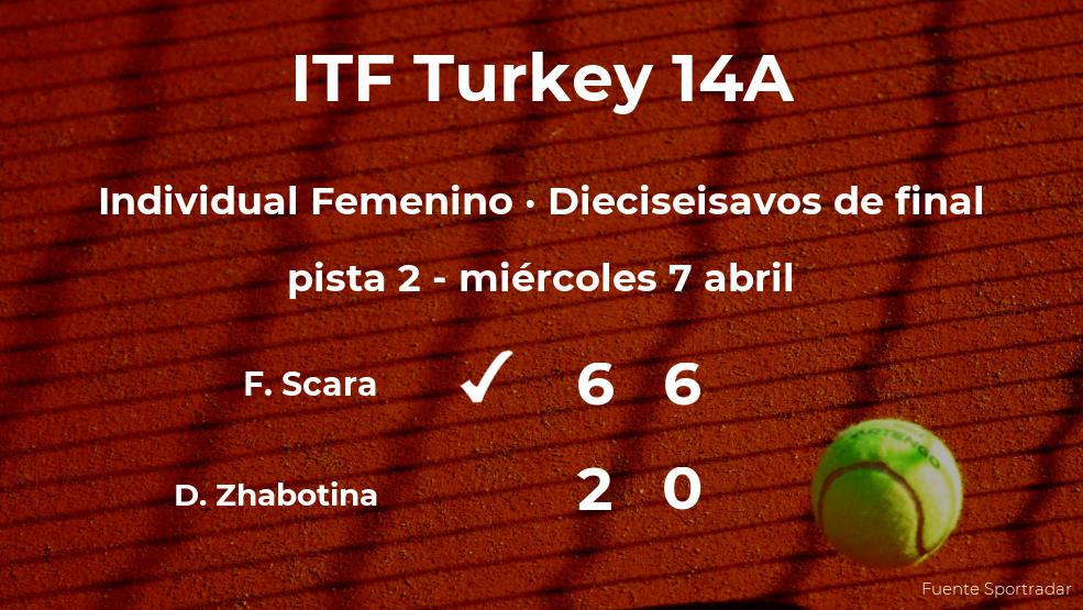 Flaminia Scara consigue clasificarse para los octavos de final del torneo de Antalya