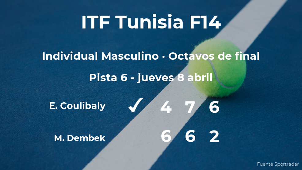 Eliakim Coulibaly se clasifica para los cuartos de final del torneo de Monastir