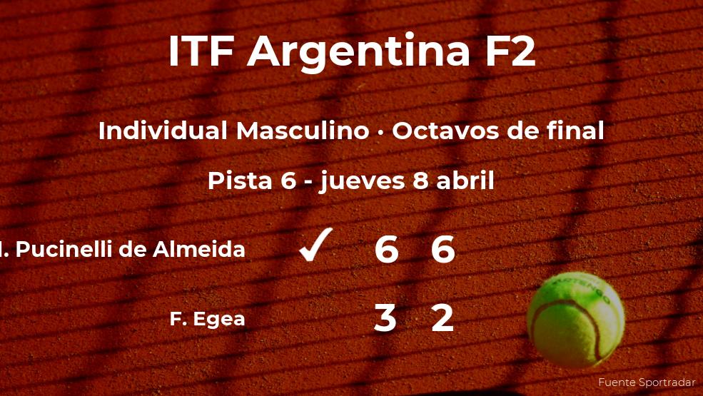 El tenista Matheus Pucinelli de Almeida pasa a la siguiente fase del torneo de Córdoba tras vencer en los octavos de final
