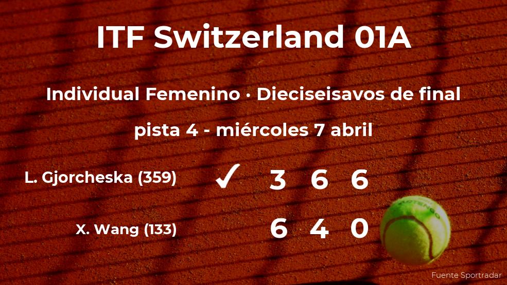 La tenista Lina Gjorcheska pasa a los octavos de final del torneo de Bellinzona