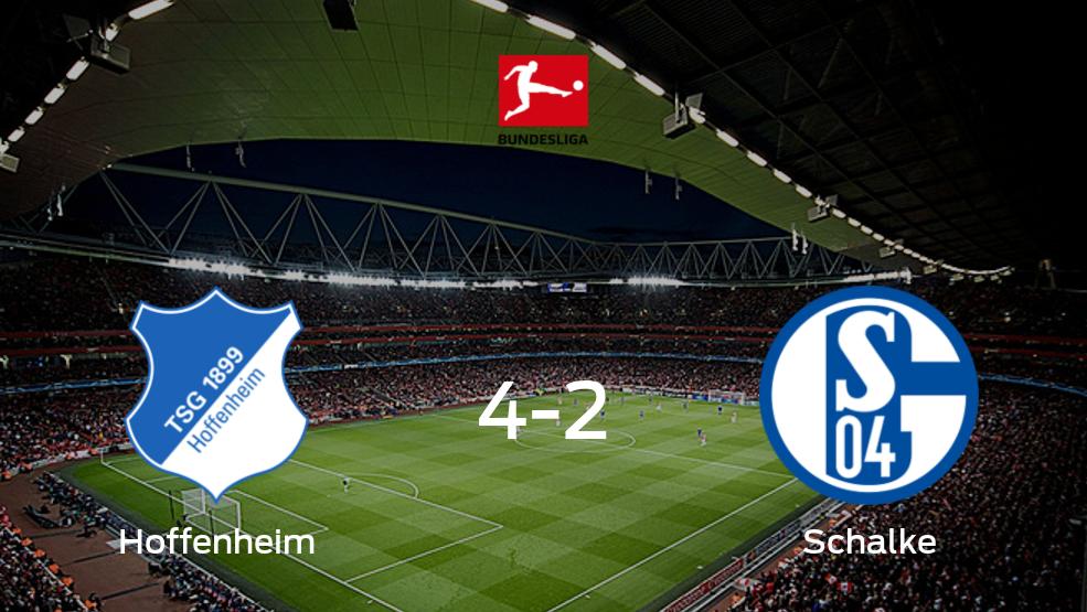 Resumen, Resultados, Goles y Tarjetas de Hoffenheim 4-2 Schalke 04 en la Bundesliga