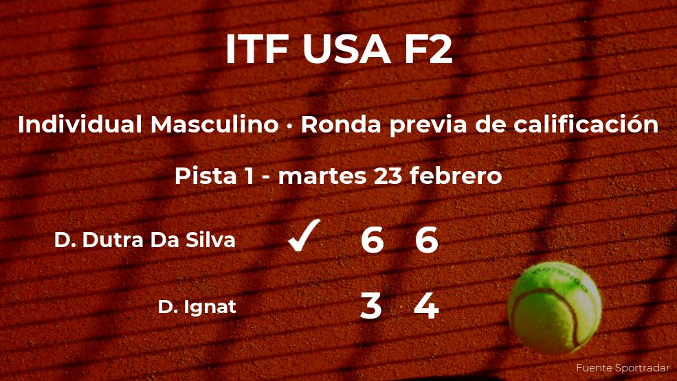 El tenista Daniel Dutra Da Silva venció al tenista Dragos Constantin Ignat en la ronda previa de calificación del torneo de Naples