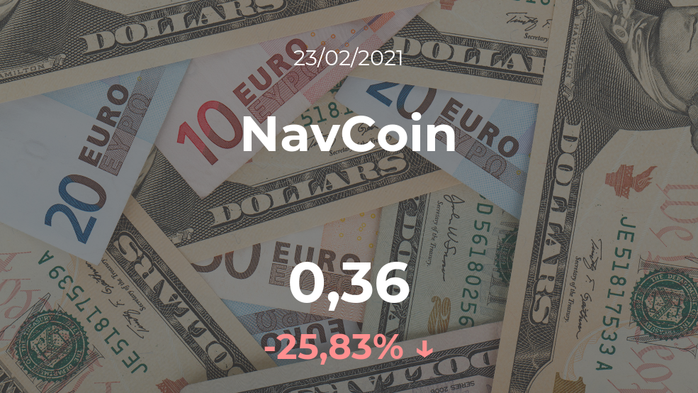 Cotización del NavCoin del 23 de febrero
