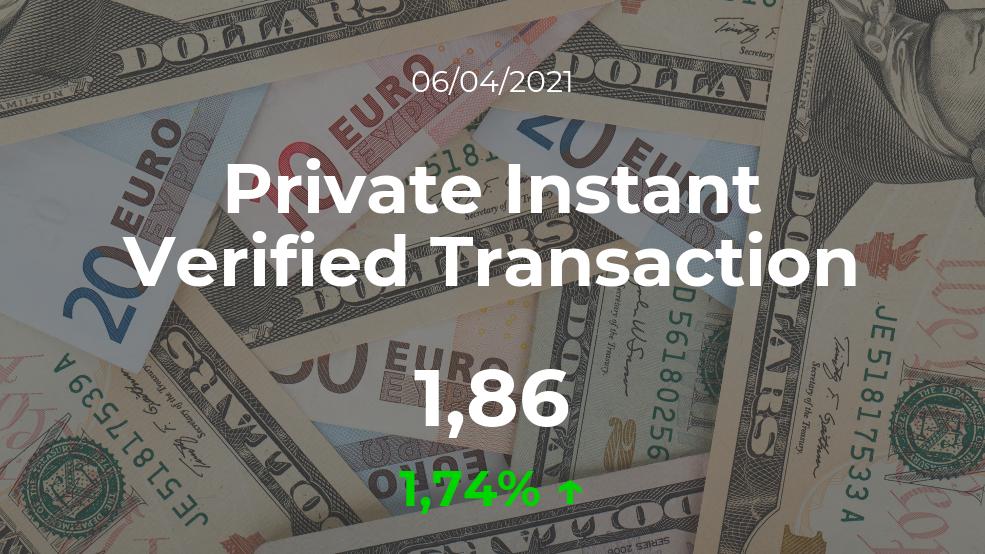 Cotización del Private Instant Verified Transaction del 6 de abril