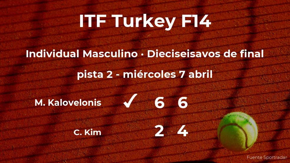 Markos Kalovelonis consigue clasificarse para los octavos de final a costa del tenista Cheong-Eui Kim
