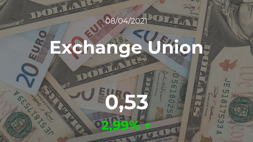 Cotización del Exchange Union del 8 de abril