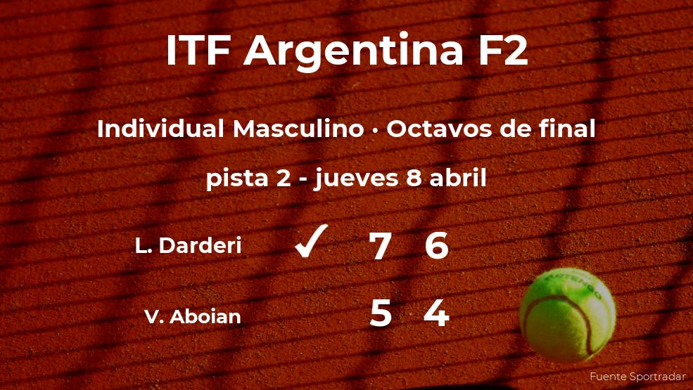 El tenista Luciano Darderi estará en los cuartos de final del torneo de Córdoba