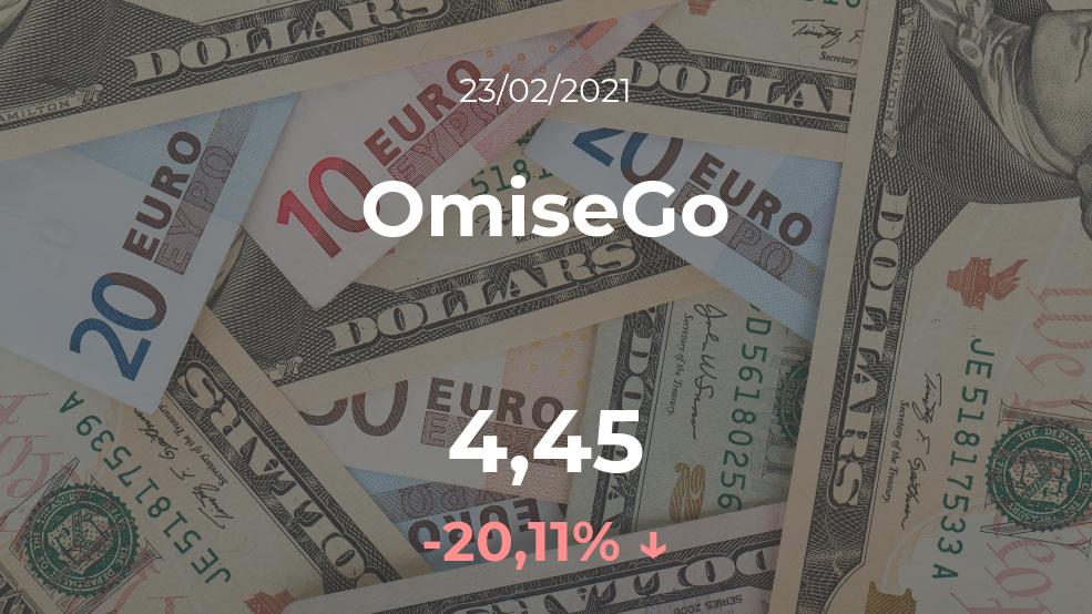 Cotización del OmiseGo del 23 de febrero