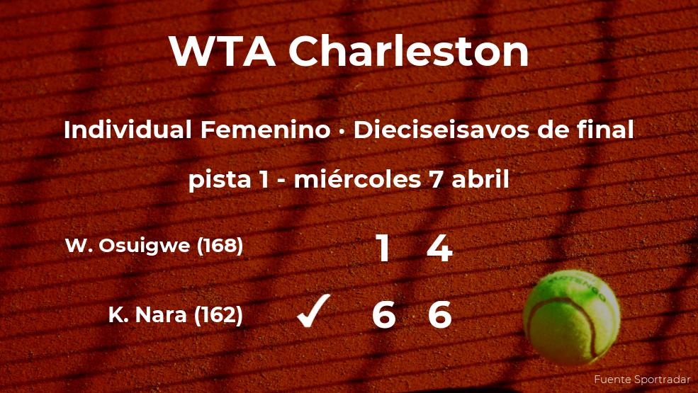 La tenista Kurumi Nara le arrebata el puesto de los octavos de final a la tenista Whitney Osuigwe