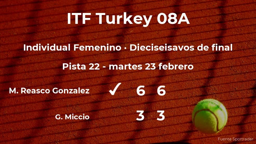 Mell Elizabeth Reasco Gonzalez consigue clasificarse para los octavos de final del torneo de Antalya