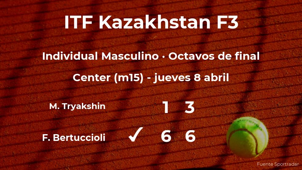 El tenista Federico Bertuccioli pasa a la siguiente ronda del torneo de Shymkent tras vencer en los octavos de final