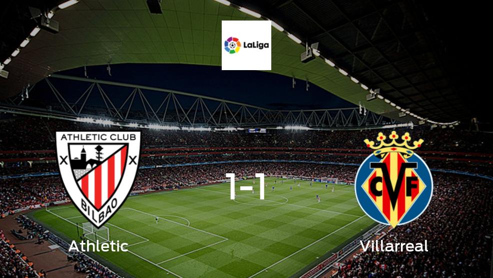 Athleticy Villarrealse reparten los puntos y empatan 1-1