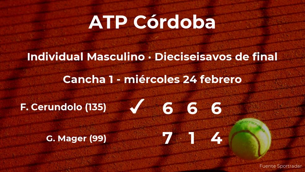 El tenista Francisco Cerundolo consigue clasificarse para los octavos de final del torneo ATP 250 de Córdoba