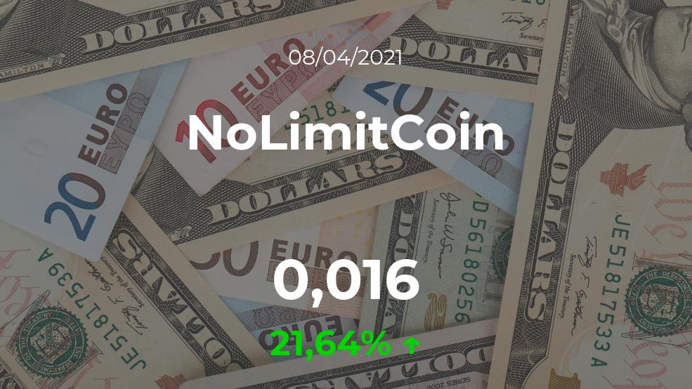 Cotización del NoLimitCoin del 8 de abril