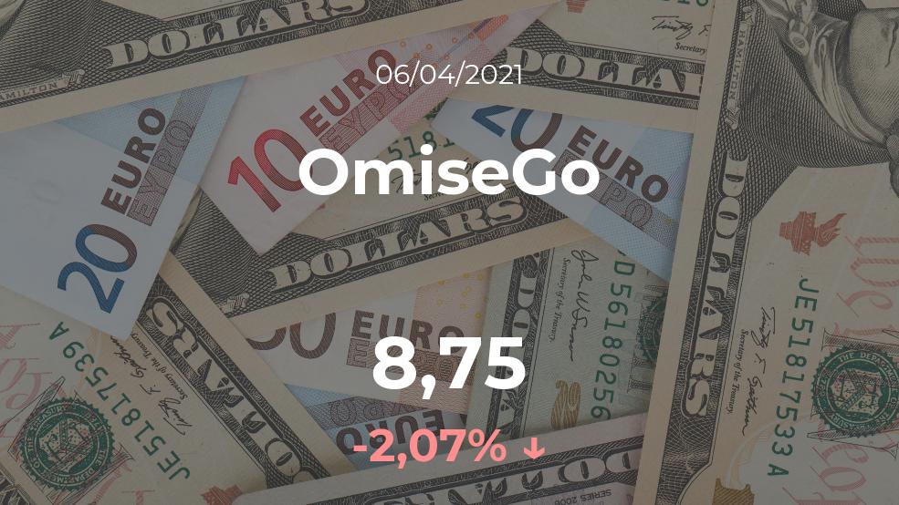 Cotización del OmiseGo del 6 de abril