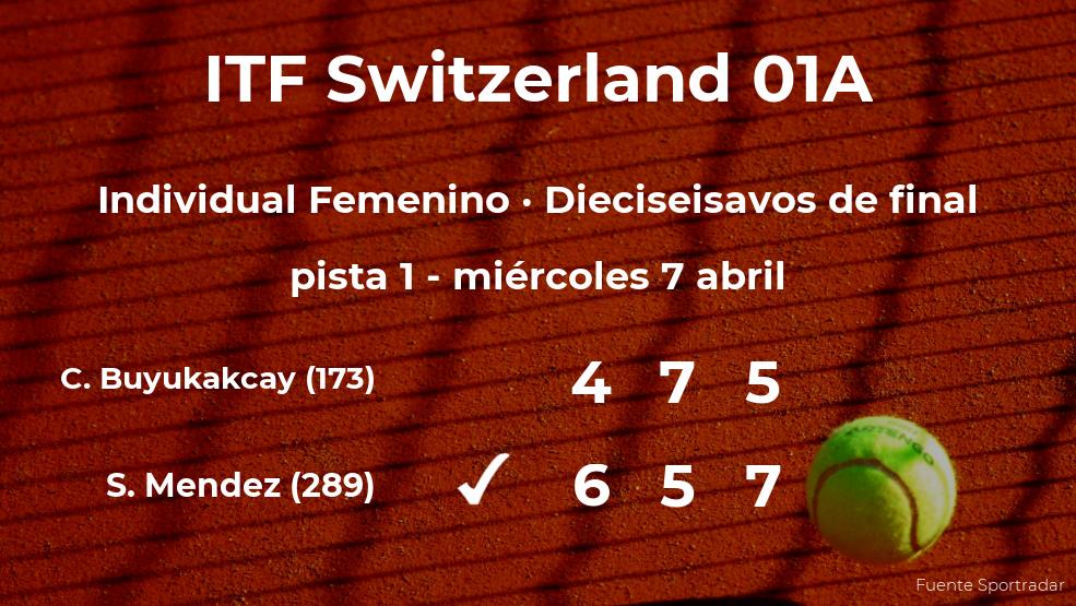 La tenista Seone Mendez, clasificada para los octavos de final del torneo de Bellinzona