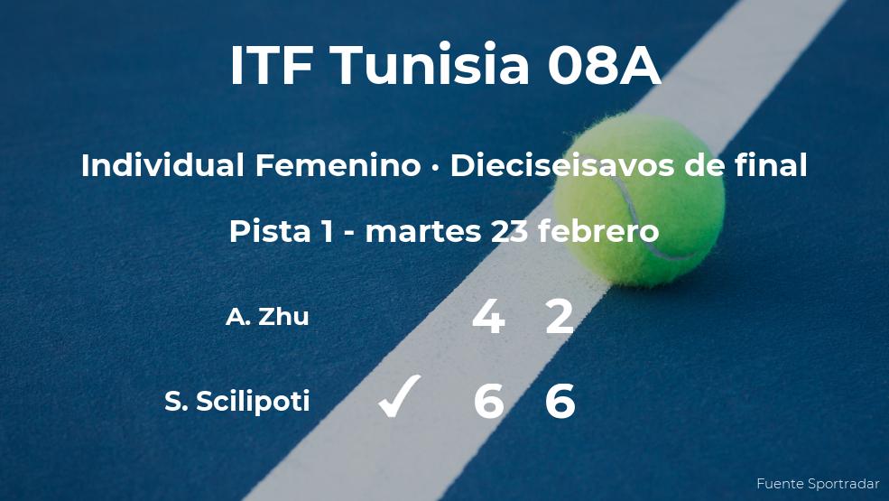 La tenista Sebastianna Scilipoti pasa a los octavos de final del torneo de Monastir