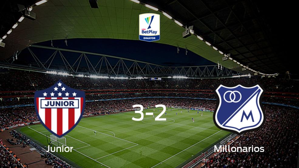 Todos los detalles del encuentro de Junior de Barranquilla con Millonarios de la jornada 2 (3-2)