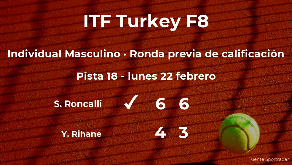 Triunfo de Simone Roncalli en la ronda previa de calificación
