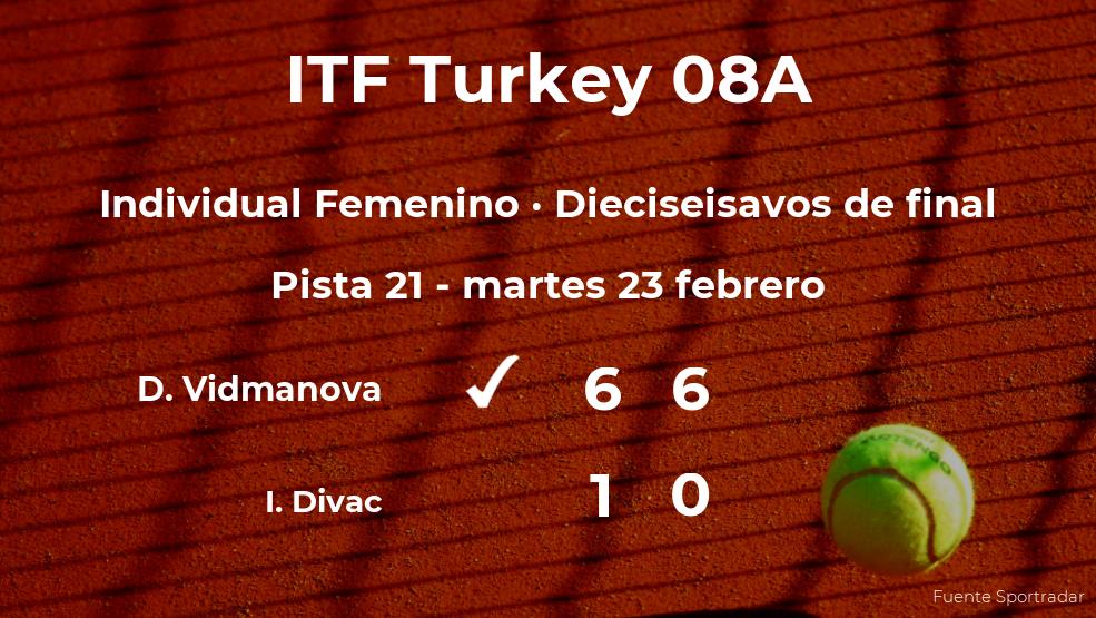 La tenista Darja Vidmanova estará en los octavos de final del torneo de Antalya