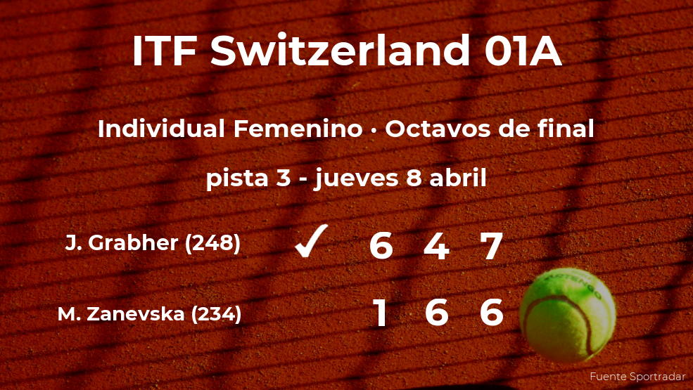 La tenista Julia Grabher consigue clasificarse para los cuartos de final del torneo de Bellinzona