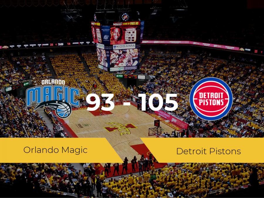 Victoria de Detroit Pistons ante Orlando Magic por 93-105