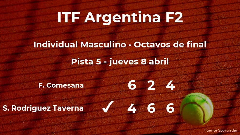 El tenista Santiago FA Rodriguez Taverna consigue clasificarse para los cuartos de final a costa del tenista Francisco Comesana