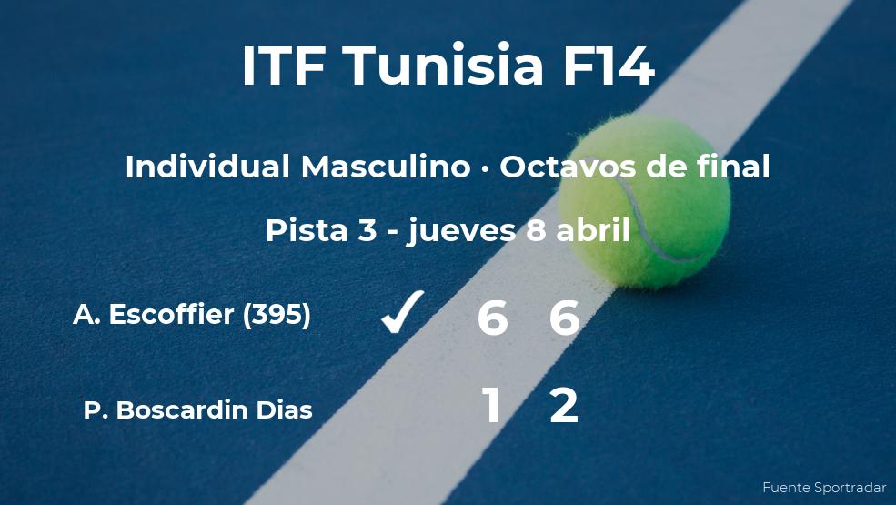 El tenista Antoine Escoffier consigue clasificarse para los cuartos de final a costa del tenista Pedro Boscardin Dias