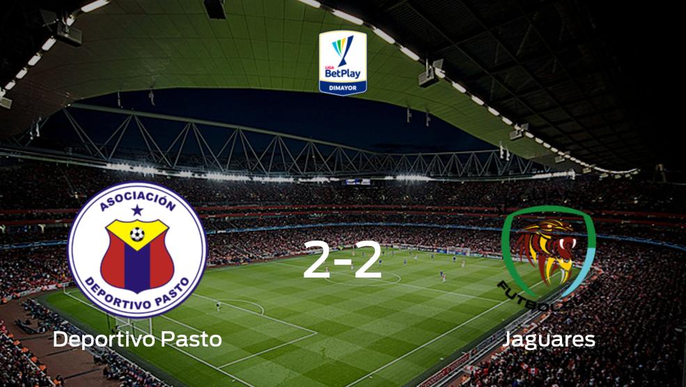 Deportivo Pasto y Jaguares FC concluyen su encuentro liguero con un empate (2-2)