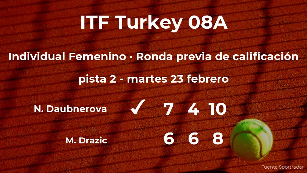 La tenista Nikola Daubnerova pasa de ronda del torneo de Antalya