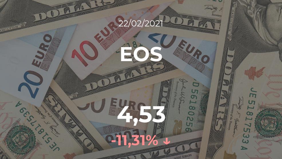 Cotización del EOS del 22 de febrero
