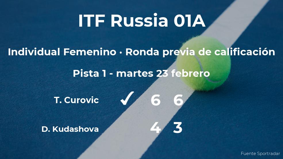 La tenista Tamara Curovic vence en la ronda previa de calificación del torneo de Moscú