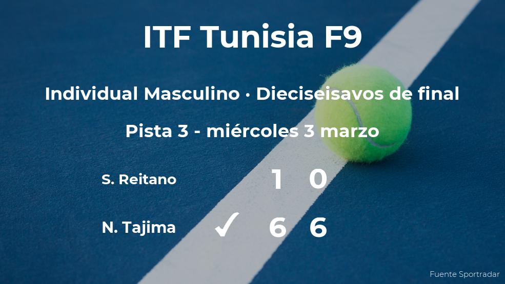 El tenista Naoki Tajima consigue clasificarse para los octavos de final a costa del tenista Stefano Reitano
